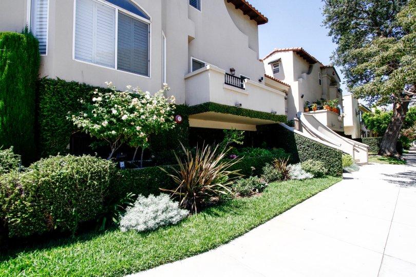 The sidewalk beside the Villas at Colfax