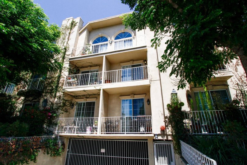 The balconies at Villas at Moorpark