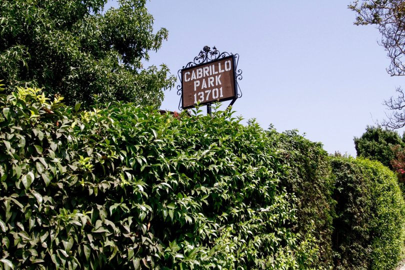 The sign announcing Cabrillo Park