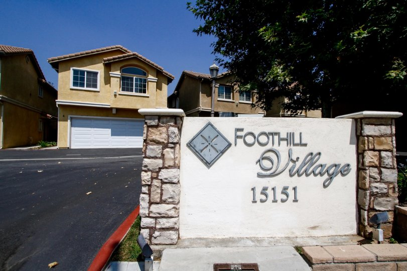 The welcoming sign for 17 Foothill Village in Sylmar California