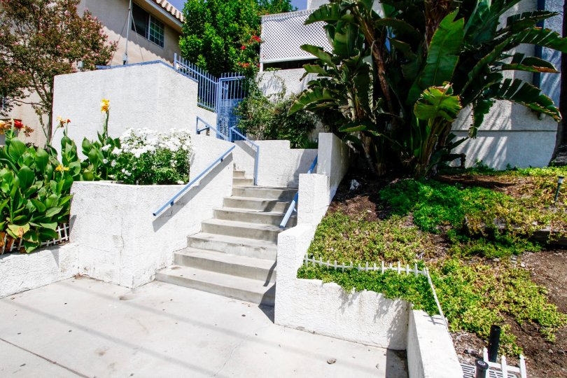The stairs up to Olive View Village in Sylmar California