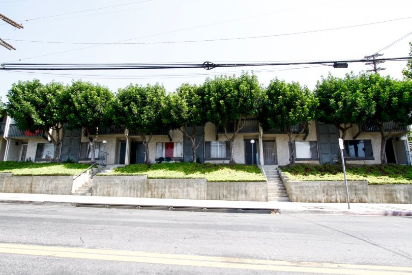 The view of Parkwood Sylmar from the street