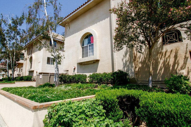 The landscaping around Villa Montera in Sylmar California