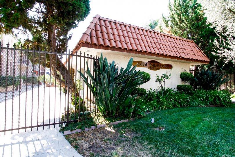 The fence around Casa Caballero in CA California