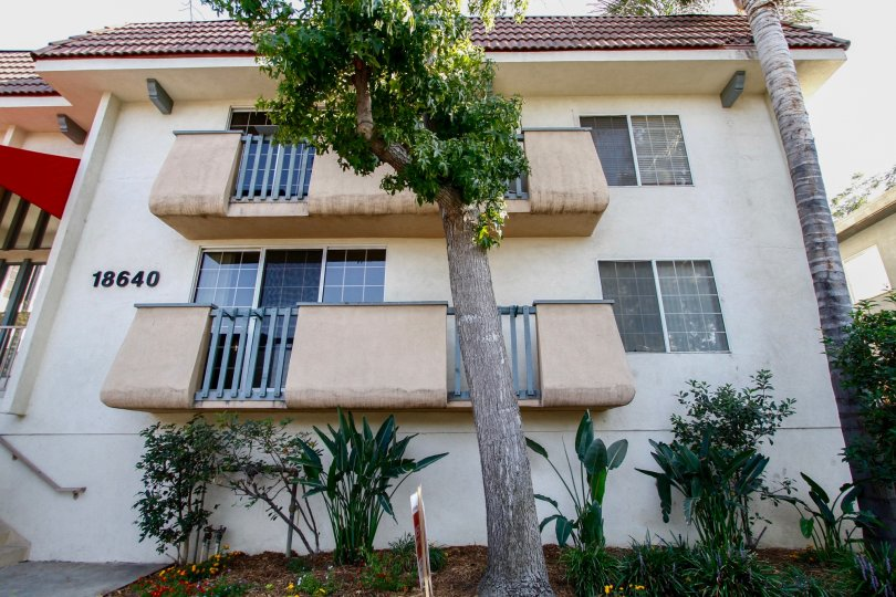The balconies at Collins Court in CA California