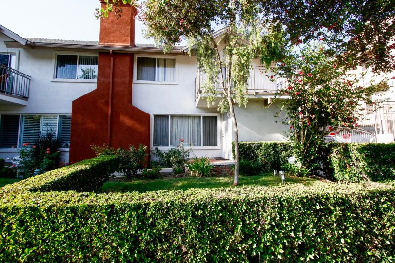 The landscaping around Collinwood Condominiums in CA California