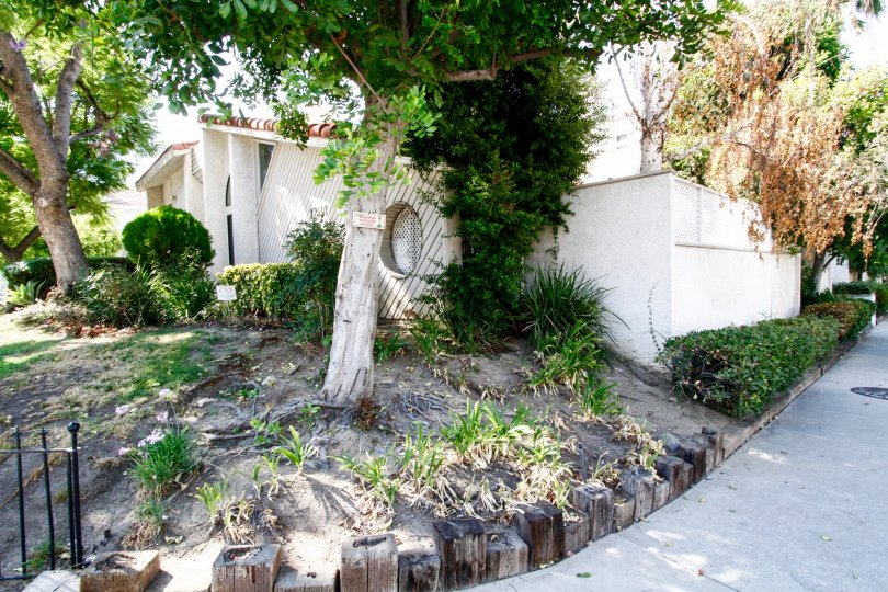 The landscaping of Tarzana Strawberry Villas