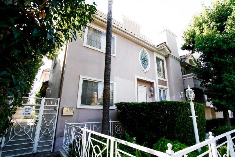 The landscaping around Villa Monet in CA California