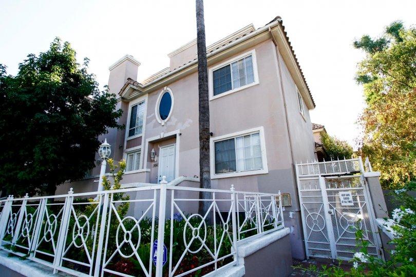 The fence around the Villa Monet in CA California