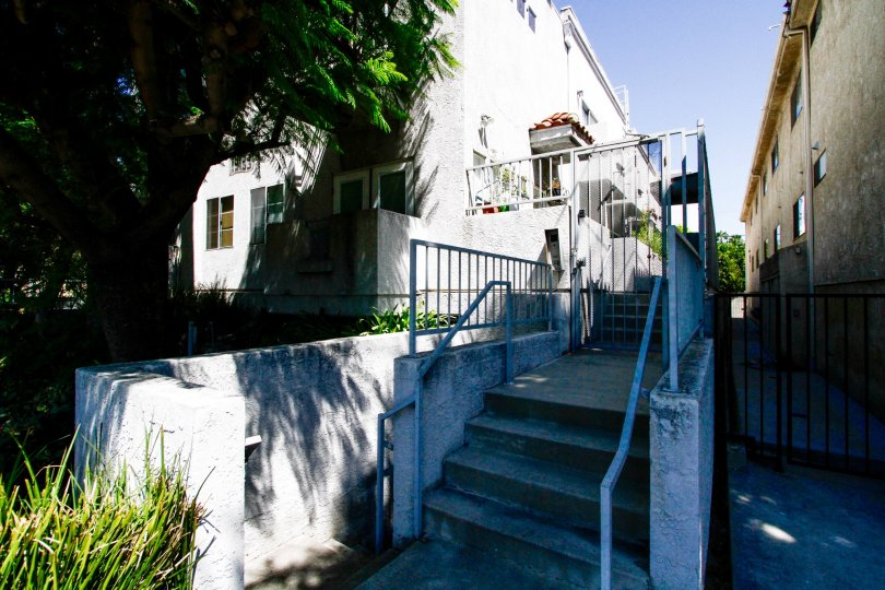 The walkway leading up to 15153 Burbank