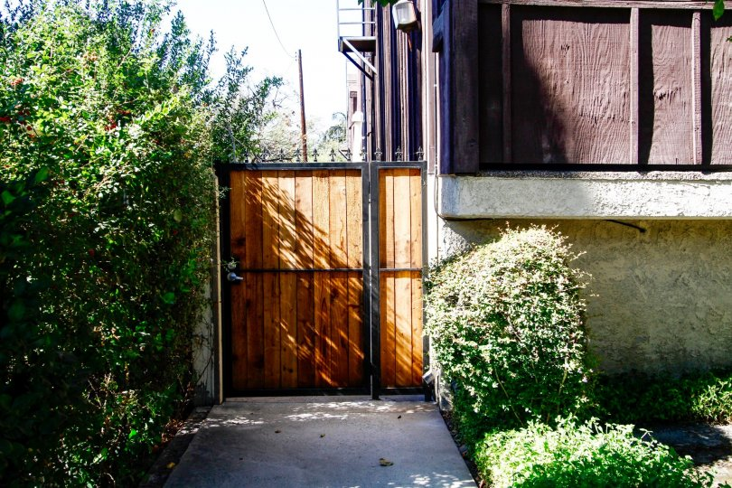 The side entrance into 15819 Vanowen St in Van Nuys
