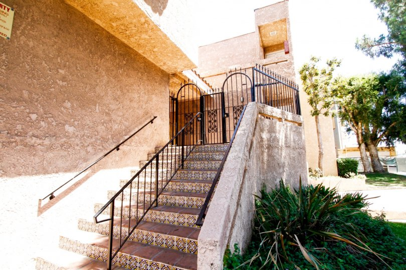 The stairs leading up to Cabrito Park Villas