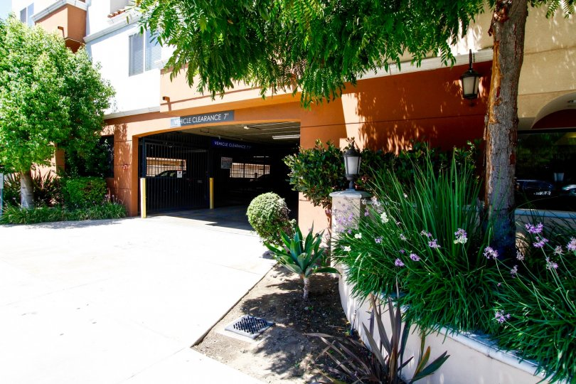 The parking for Casa Marbella in Van Nuys