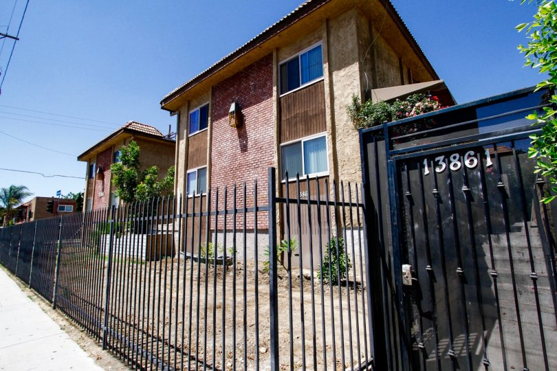 The gated entrance into Ranchito Townhomes