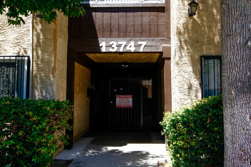 The doors into Vanowen Place in Van Nuys