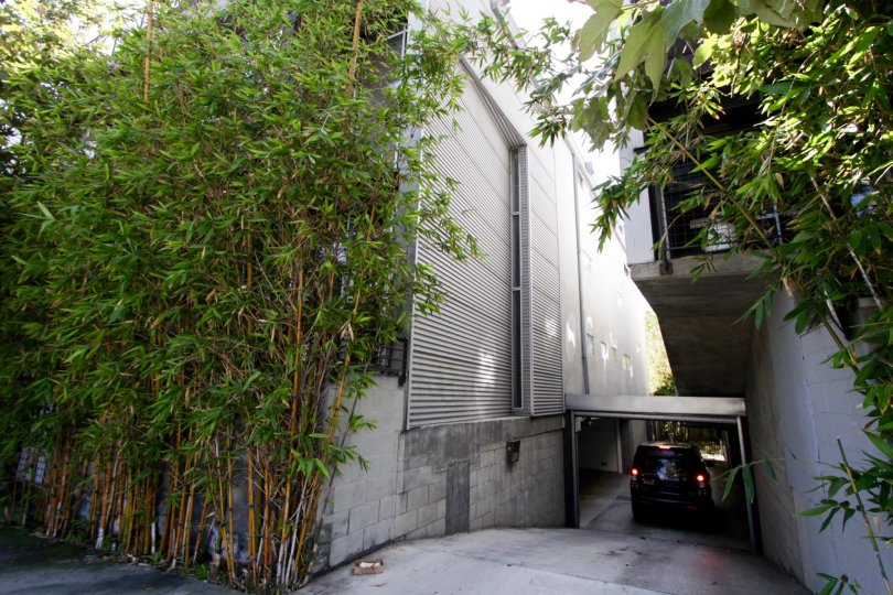 The parking for Canal Lofts