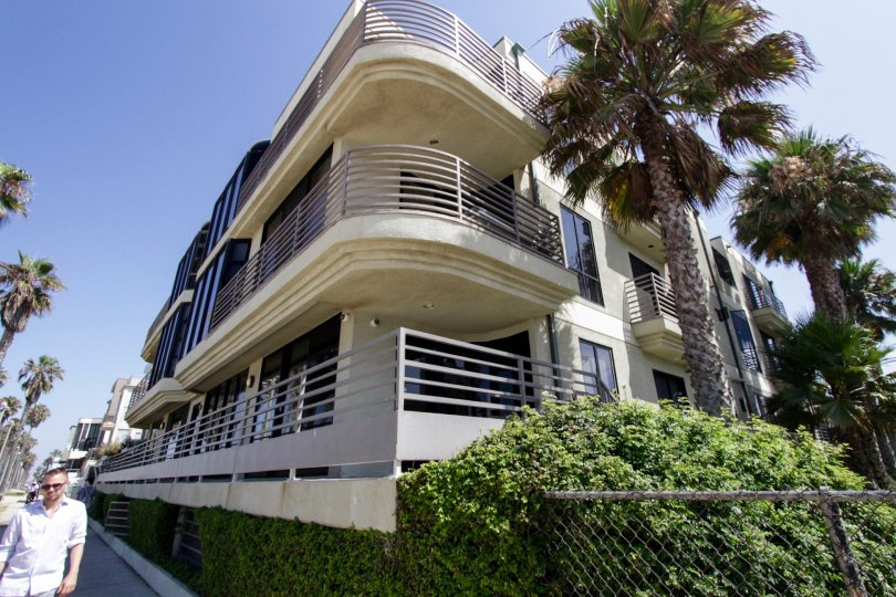 The balconies at Oceanfront Manors in Venice
