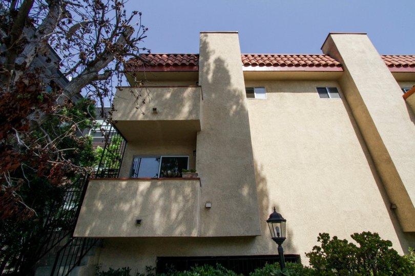 The balconies seen at 1040 N Gardner in West Hollywood