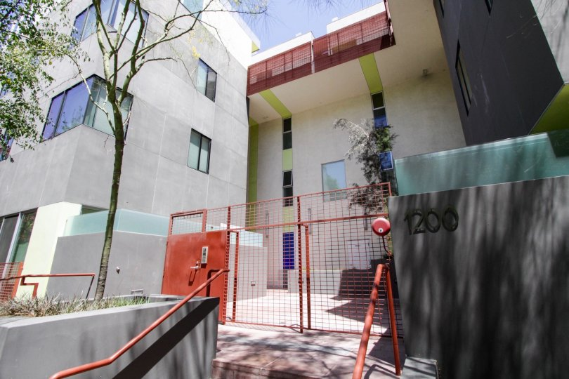 The gated area into 1200 Sweetzer in West Hollywood