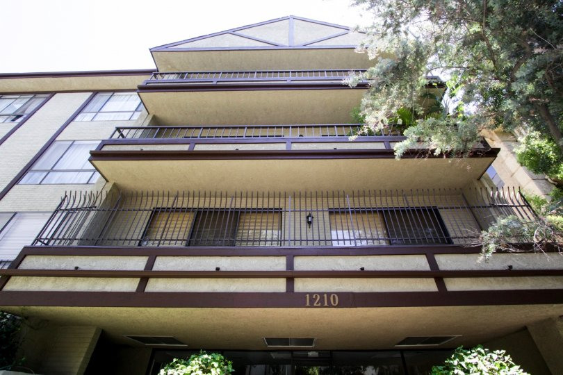 The balconies at 1210 Kings