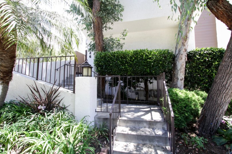 The stairs up to 1226 N Kings in West Hollywood