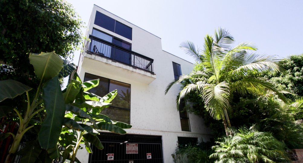 The balcony at 1433 N Harper in West Hollywood