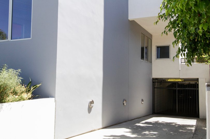The parking for 616 Croft in West Hollywood