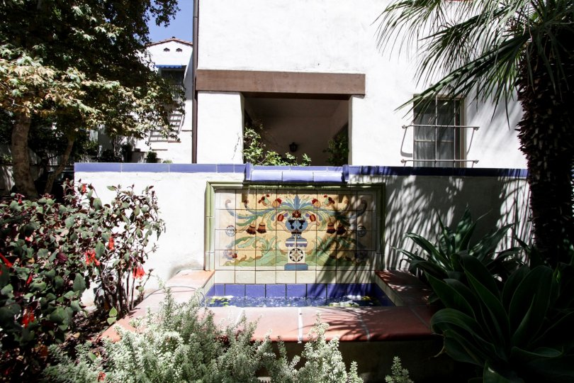 The intricate tile work at the 7 Fountains in West Hollywood