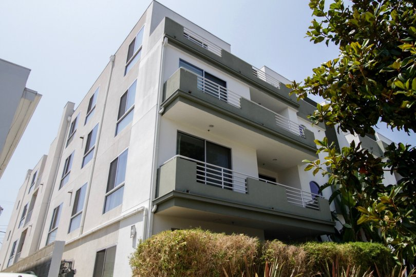 The balconies at 817 Alfred in West Hollywood
