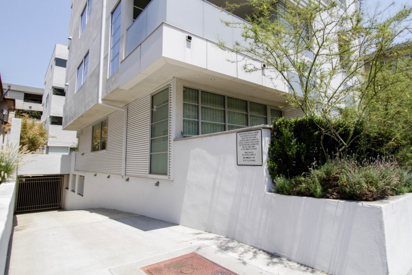 The parking for residents of 8265 Fountain West in West Hollywood