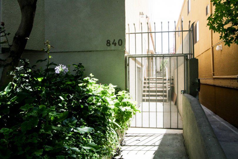 The address on the building at 840 N Croft in West Hollywood