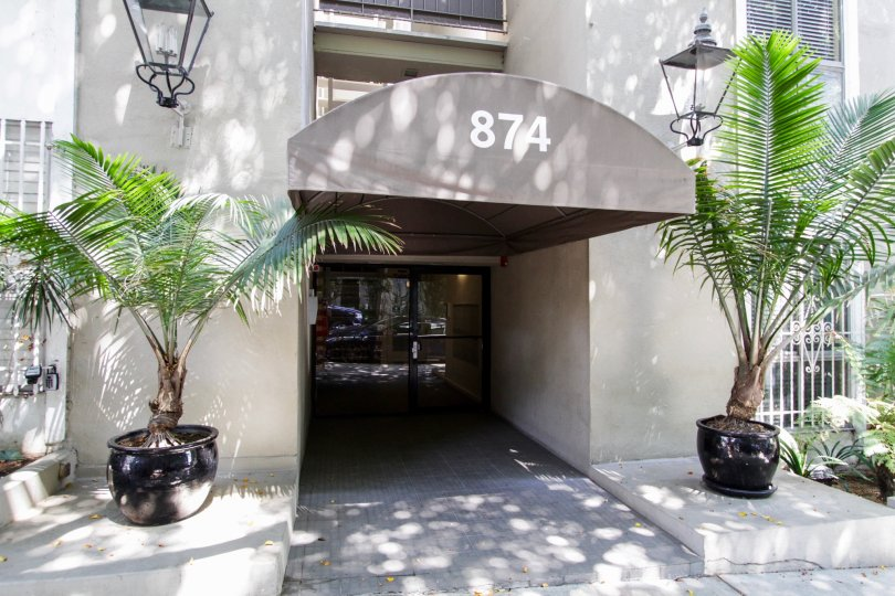 The entrance into 874 Hammond in West Hollywood