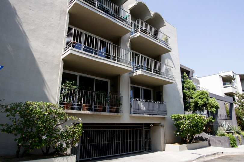 The parking for residents at 874 Hammond in West Hollywood