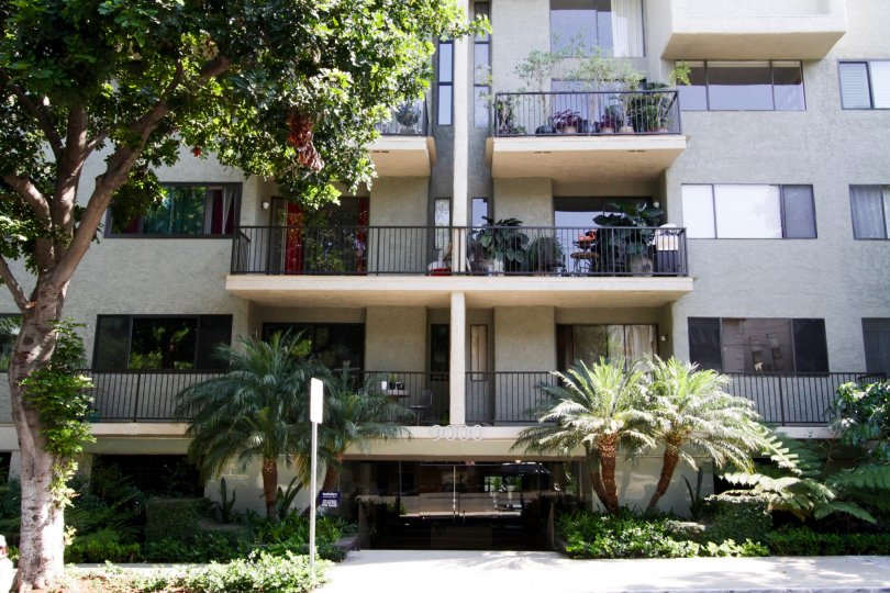 The balconies at 9000 Cynthia in West Hollywood