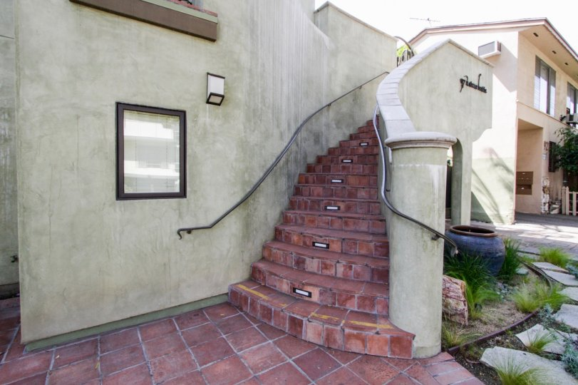 The stairs going up to 917 Sierra Bonita