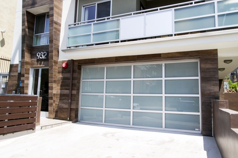 The garage for parking at the 932 Alfred in West Hollywood