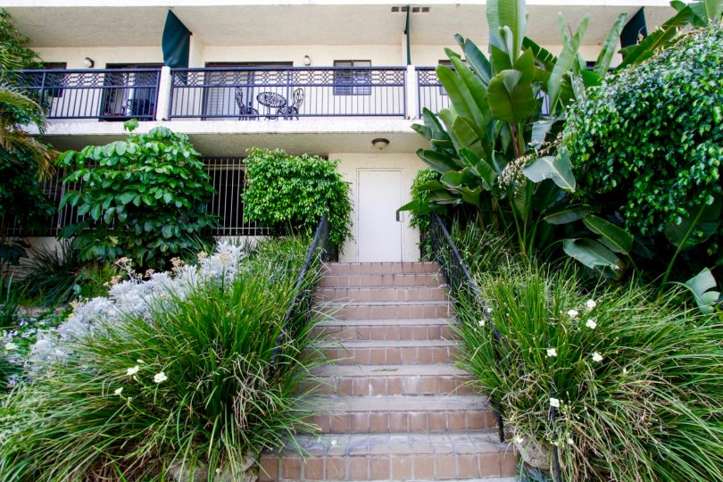 The stairs leading up to Bonita Villas in West Hollywood