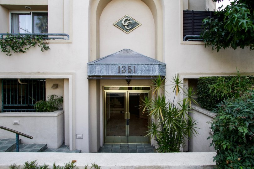 The address at the entrance of Chateau Curson in West Hollywood