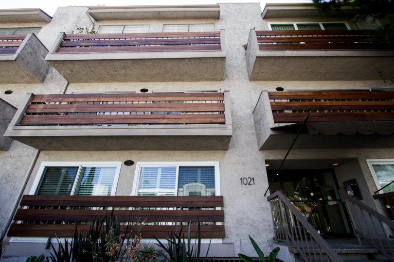 The patio doors seen at the Crescent Regency