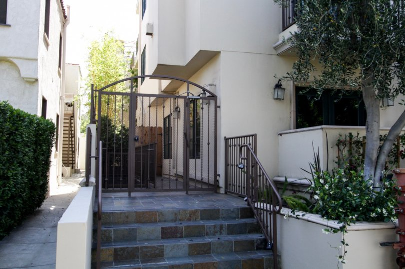The gate into Croft Villas in West Hollywood