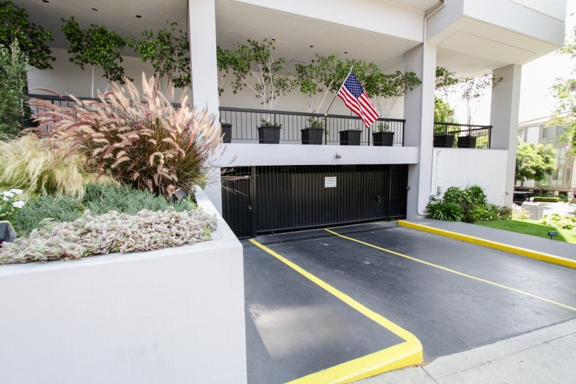 The parking for residents at the Empire West in West Hollywood
