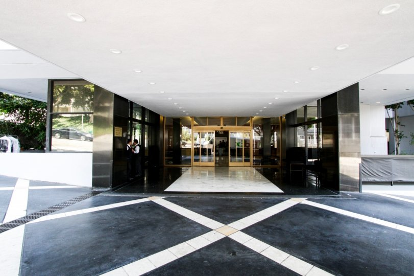 The entrance into Empire West in West Hollywood