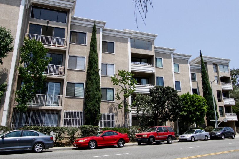 The balconies seen at Fountainview in West Hollywood