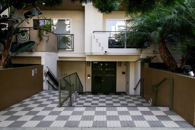 The entrance into Fuller Condominiums in West Hollywood
