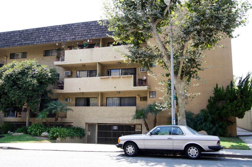 The parking for residents of Granville Court in West Hollywood