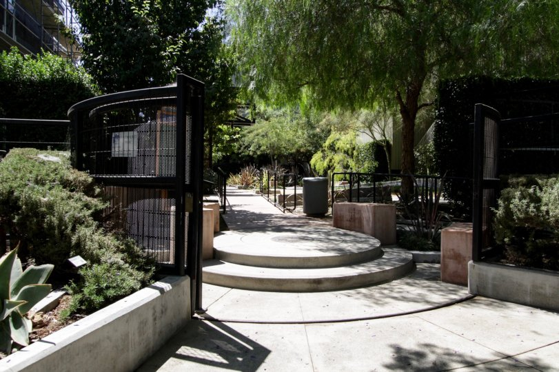 The entryway into Habitat On The Park located in West Hollywood