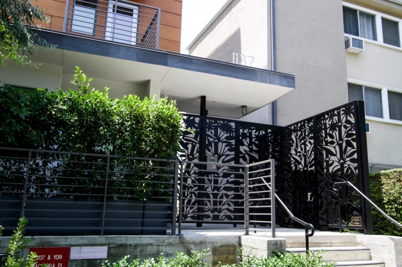 The entrance into the Hacienda Lofts in West Hollywood