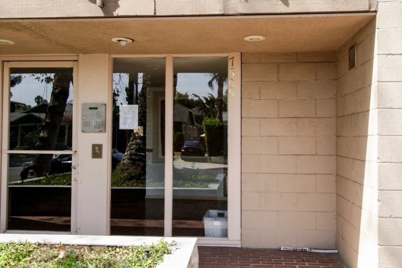The doors leading into the Hampton West in West Hollywood