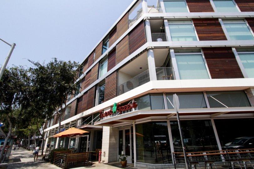 The balconies at Hancock Lofts