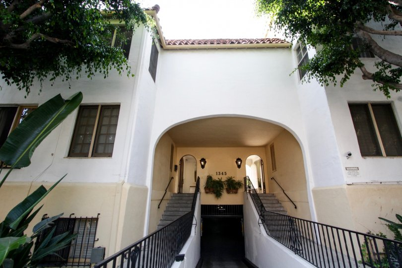 The entrance into Hayworth Gardens in West Hollywood